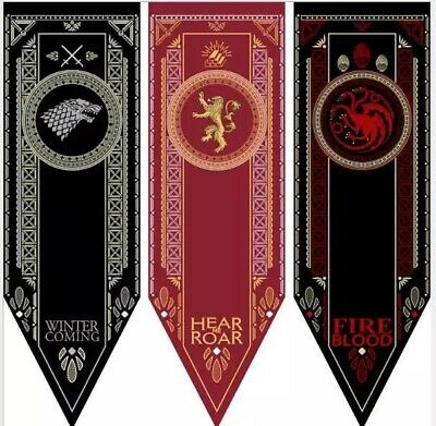 Game of Thrones Tournament Banner Lannister Stark Dragon Gryffindor Flags Poster