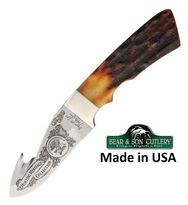 Hunting Knife Red Stag handle Made in USA Limited Edition Free Shipping