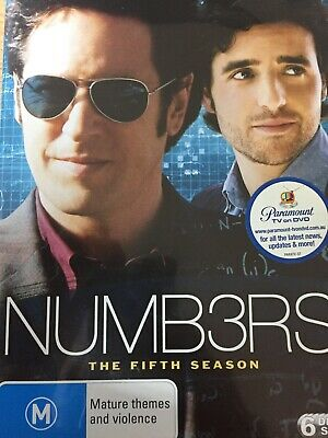 NUMBERS - Season 5 6 x DVD Set Excellent Cond! Complete Fifth Series Five