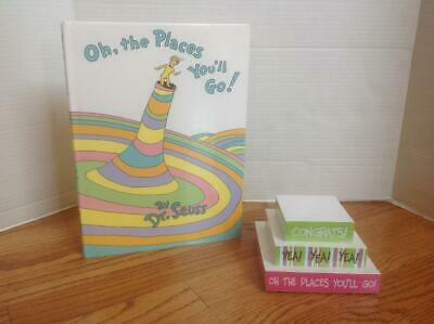 OH, THE PLACES YOU'LL GO! Dr. Seuss Book & NOTEPAD by Mudpie NEW Graduation Gift