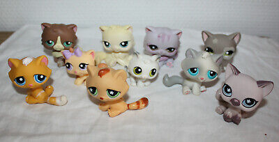 Littlest Pet Shop cats Lot AUTHENTIC LPS Persian Kitten Short Hair  10 pcs
