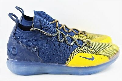 Nike Zoom KD 11 Mens Size 11 Basketball Shoes Michigan College Navy AO2604 400