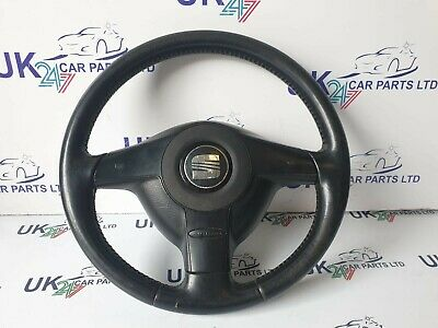 Seat Leon Mk1 1999-2003 Leather Steering Wheel 1J0 419 091 Ae  1M0 880 201