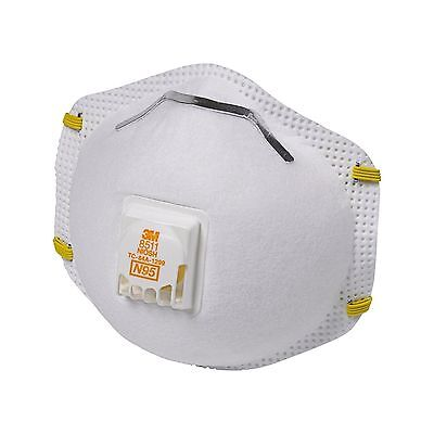 3M 8511 Particulate N95 Respirator Mask Filter Valve - Case of 64 (32 - 2 Packs)
