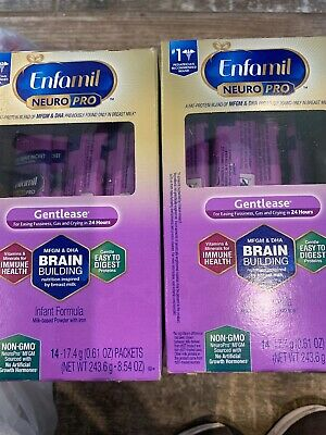 GENTLEASE Enfamil Neuro Pro Infant Formula 6-Boxes /84 Individual Packets New