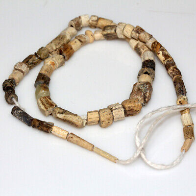 Very Rare Byzantine B0Ne Beads Necklace-Ca 500-700 Ad - Wearable