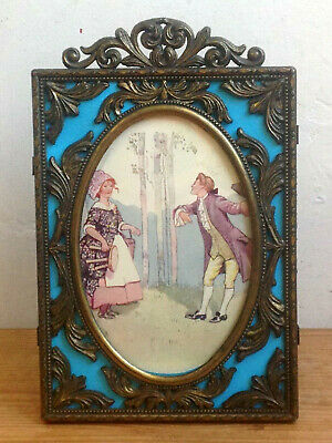 Vintage Italian Rococo Style Brassed  / Gilt Metal Finish Photo / Picture Frame