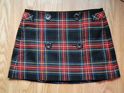 60e1c0e11 GAP WOMENS WOOL Gray Plaid Mini Skirt lined Size 6 - $7.99 | PicClick