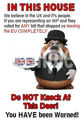 Brexit Door Poster With Butler Bulldog