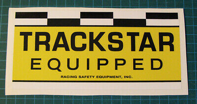 Vintage Trackstar Equipped Racing Safety Vinyl Sticker Decal - Scca - Trans Am