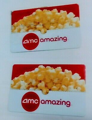 Lot of 2 - AMC Movie Gift Cards $50 total