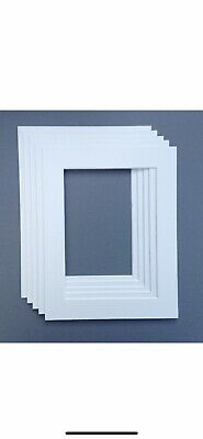 White 9x7 Picture Mount Fits 7x5. Pack Of 5