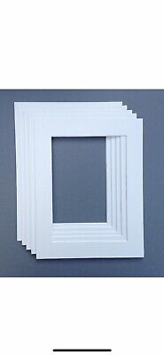 White 16x12 Picture Mount Fits 12x8. Pack Of 5