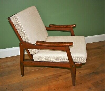 Mid Century Danish Style Armchair / Lounge Chair. New Upholstery and Webbing