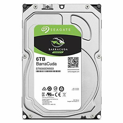 "Seagate BarraCuda internal hard disk 3.5"" 6TB HDD ST6000DM003 PC SATA 6Gb/s New"