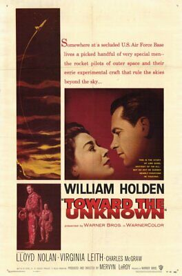 RARE 16mm Feature: TOWARD THE UNKNOWN (WILLIAM HOLDEN) GREAT AERIAL SCENES