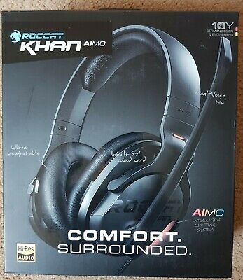 NEW Roccat Khan AIMO 7.1 Surround Gaming Headset - Black ROC-14-800