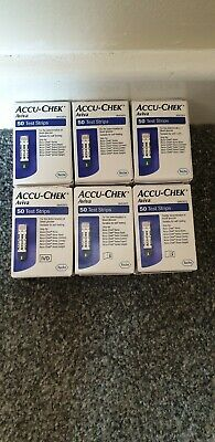6 Boxes Of X 50 = 300 ACCU-CHEK AVIVA BLOOD GLUCOSE TEST STRIPS   EXP 04/2020