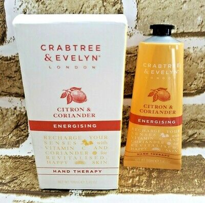 Crabtree & Evelyn CITRON CORIANDER Energising Hand Therapy 3.45 oz