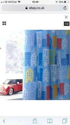 Catherine Lansfield Trucks Curtains Toddler Kids Room Blue Brights