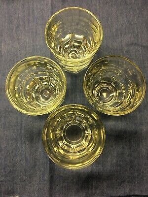 Lot Of 4 Vintage Libbey Clear 4 Ounce Glasses Heavy Bottom Bar Tavern