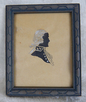 Silk Screen Framed Silhouette Vintage Original Process Thomas Jefferson Colonial