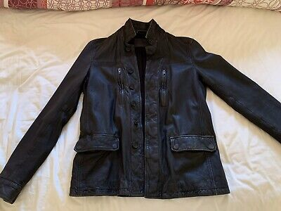 Mens All Saints Small Melville Leather Jacket