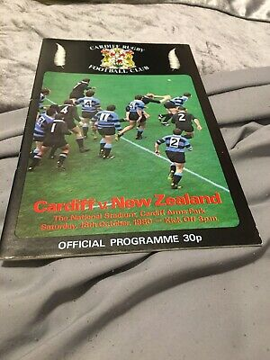 1980-Cardiff V New Zealand-All Blacks-Tour Match-Rugby Union Programme-Good
