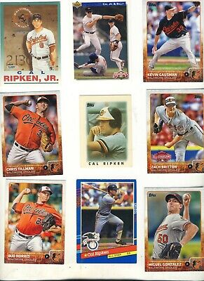 Baltimore Orioles Lot of 43 Baseball Cards Vintage & Recent See 5 scans