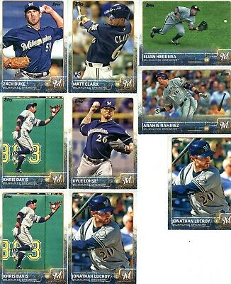 Milwaukee Brewers Lot of 36 Baseball Cards Vintage & Recent See 5 scans