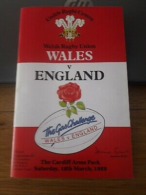 1989-Wales V England-Five Nations-International Rugby Union Programme