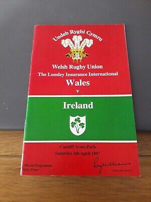 1987-Wales V Ireland-Five Nations-Rugby Union Programme-Very Good-Vgc