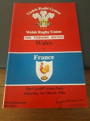 1986-Wales V France-Five Nations Champions-International Rugby Union Programme