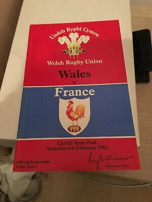 1982-Wales V France-Five Nations-International Rugby Union Programme