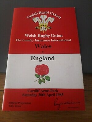 1985-Wales V England-Five Nations-International Rugby Union Programme