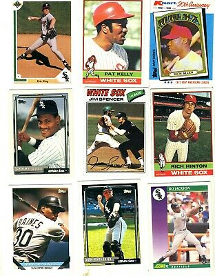 Lot of 61 Chicago White Sox  Vintage & Recent cards all shown in 7 scans.