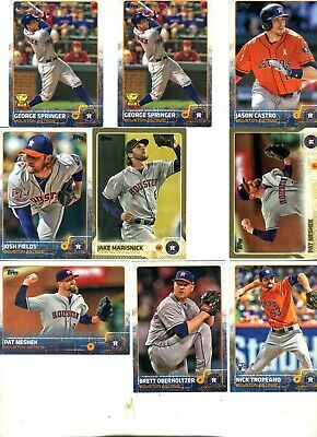 Houston Astros  Lot of 22 Baseball Cards Vintage & Recent See 3 scans