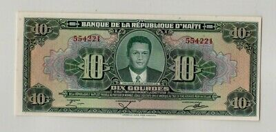 HAITI TWO 10 GOURDES NOTES  p242 (1983-85)  INCLUDING RARE  NO LETTER PREFIX UNC