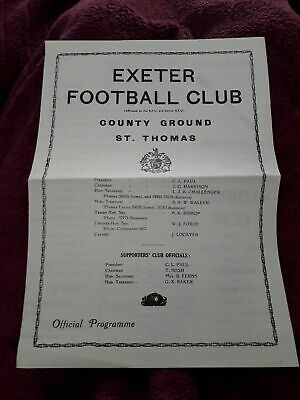 1975-Exeter V St Luke College-Club Friendly-Rugby Union Programme