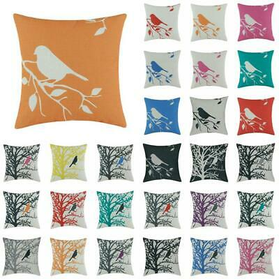 Cucoloris Bird Cotton Linen Throw Pillow Case Cushion Cover Home Decor 18x18''
