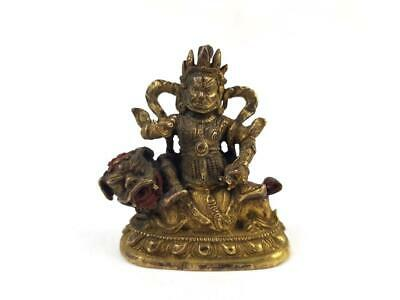 Antique Chinese Gilded Bronze Buddha,The God of The Wealth on Lion,Rat,18/19th C