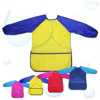 Waterproof Art Smock Long Sleeve Kids Painting Shirt Paint Apron Girl Boy School