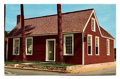 William Sims Silversmith Shop St Augustine Florida Postcard 1969 Unposted