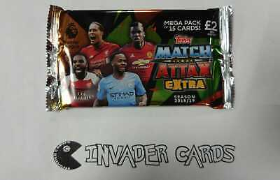 Topps Match Attax Extra Season 2018 / 2019 18/19 Mega Pack 15 Card Packet Sealed