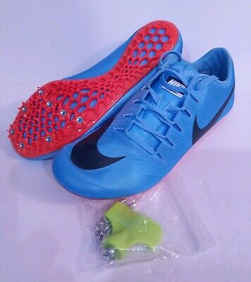 NEW NIKE ZOOM JA Fly 3 Track Spikes Sprint Shoes Blue Red 865633 446 Mens