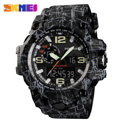 SKMEI Men's Sports Waterproof Military Multifunction Digital &Analog Wrist Watch