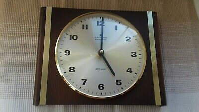 Junghans electronic ato-mat wanduhr vintage Holz messing