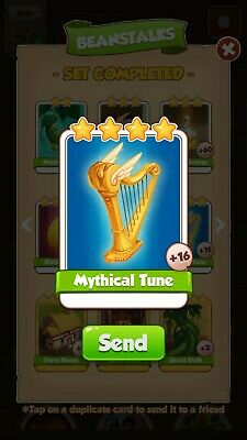 Coin Master Cards Mythical Tune and other available.please read item description