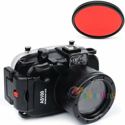 Meikon 40M 130ft Waterproof Housing Case Cover For Sony A5100 16-50mm Camera【AU】