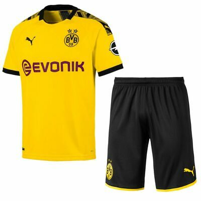 Puma Football Borussia Dortmund BVB Mens Home Kit 2019 2020 Shirt Jersey Shorts